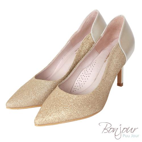 BONJOUR☆軟綿綿8cm好走氣墊尖頭高跟鞋Wedding shoes【ZB0310-8】金