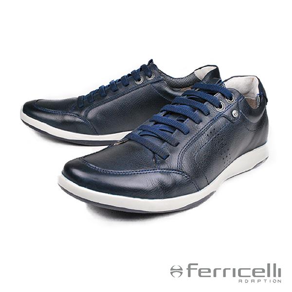 【ferricelli】Sportage彈性鞋帶運動休閒鞋  海軍藍(F40520-NA)