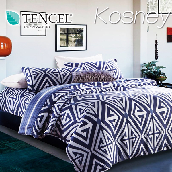 《KOSNEY 迪亞》特大100%天絲TENCEL四件式兩用被床包組