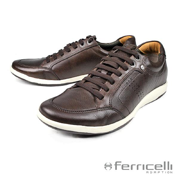 【ferricelli】Sportage彈性鞋帶運動休閒鞋  咖啡(F40520-CHO)