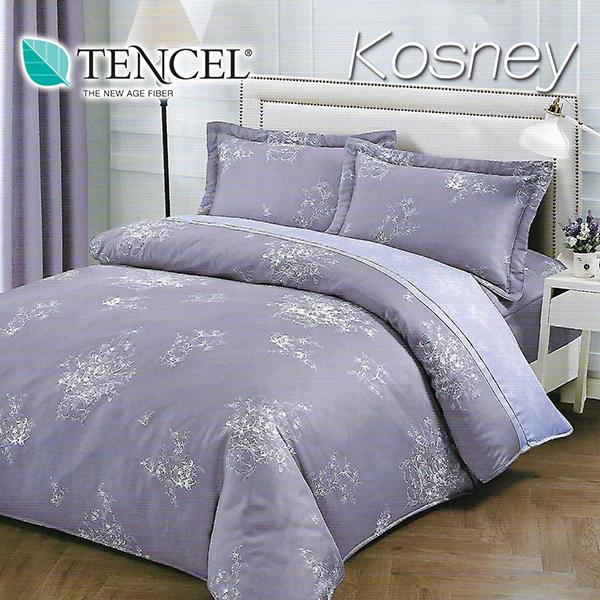 《KOSNEY 紫昕》特大100%天絲TENCEL四件式兩用被床包組