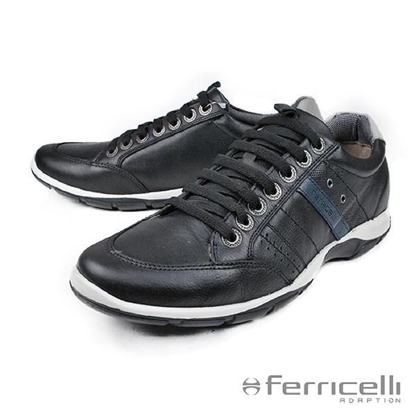 【ferricelli】Azera牛皮減震男仕休閒鞋 黑色(F42480-BL)