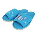 【YVONNE COLLECTION】鯨魚貼繡拖鞋(中藍M)