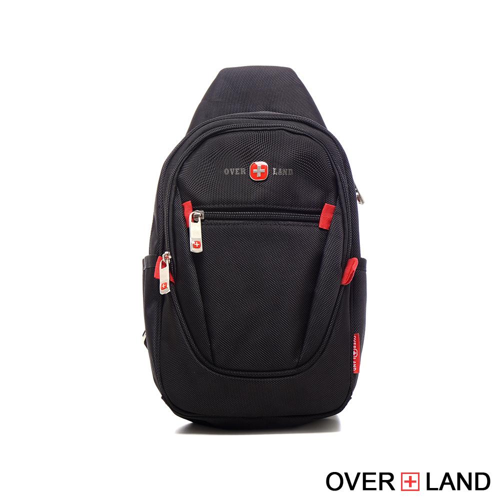【OVERLAND】美式十字軍 - 經典防潑水立體版型胸肩包 - 3085