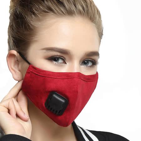 騎行坐車防寒防塵防霧霾純棉過濾呼吸閥口罩(女款)