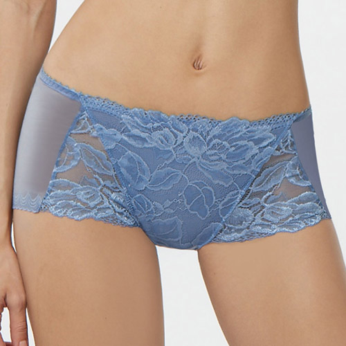 【曼黛瑪璉】雙弧  低腰平口無痕內褲(紫暮藍)