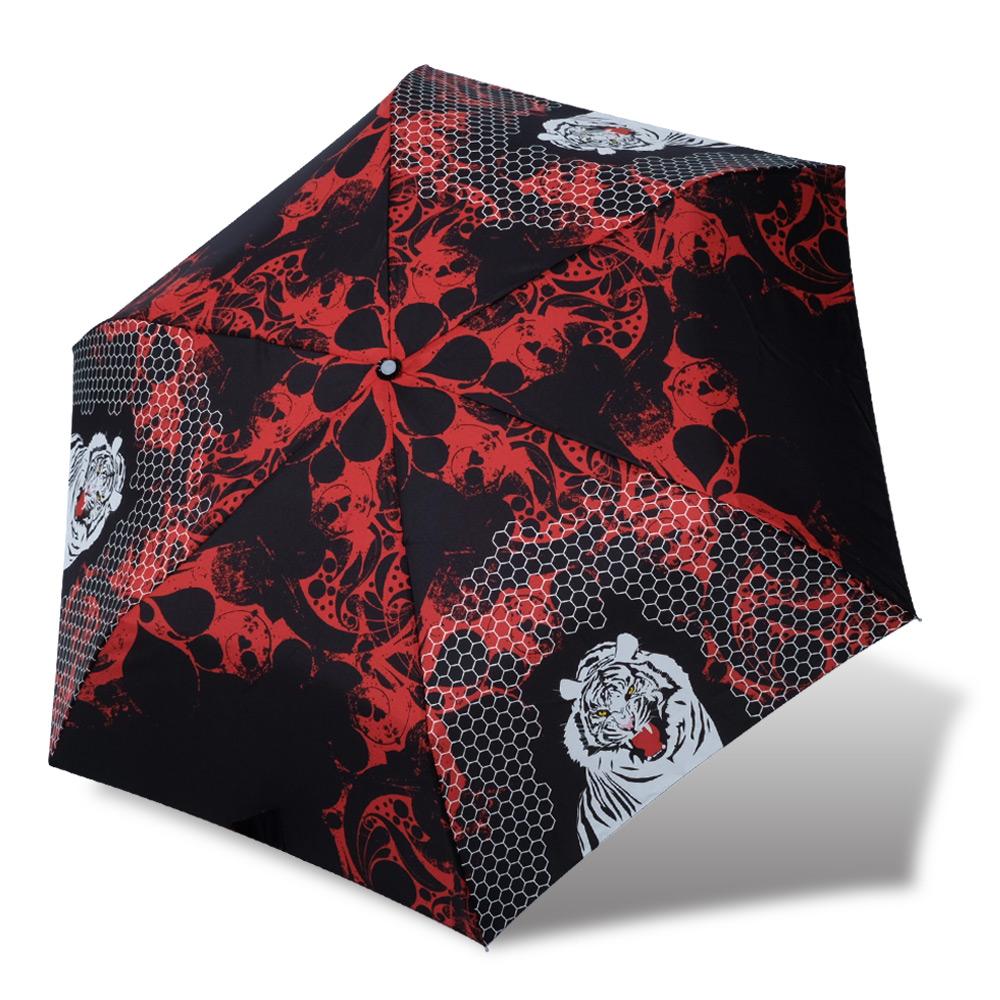 【RAINSTORY】火焰老虎抗UV輕細手開傘