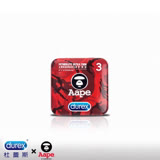 即期【Durex杜蕾斯 x Aape】紅迷彩鐵盒限定版超薄裝更薄型3入