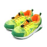 【中童】DIADORA 19cm-23cm 寬楦潮流運動跑鞋 繽紛幻彩系列 綠橘 5695