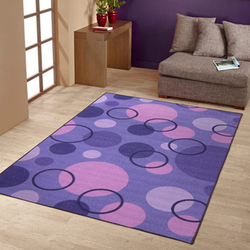 【范登伯格】炫彩★圓圈變幻色彩活潑進口地毯-大款(紫)-200x260cm