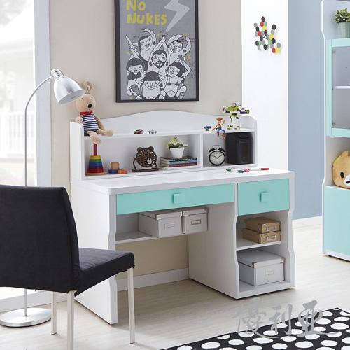 【優利亞-藍天】3.7尺書桌全組