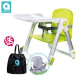 【英國Apramo Flippa】QTI可攜式摺疊兒童餐椅-糖果綠 ㊣原廠公司貨㊣