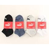 PUMA 運動短襪-黑/灰系/藍系/白(22.5~24cm*3入裝)