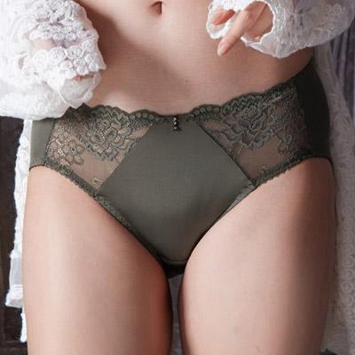 【EASY SHOP】奢貴濃情 中腰三角褲(墨綠色)