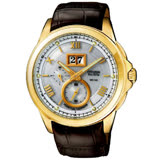 CITIZEN 光動能系列 萬年曆紳士腕錶(金)