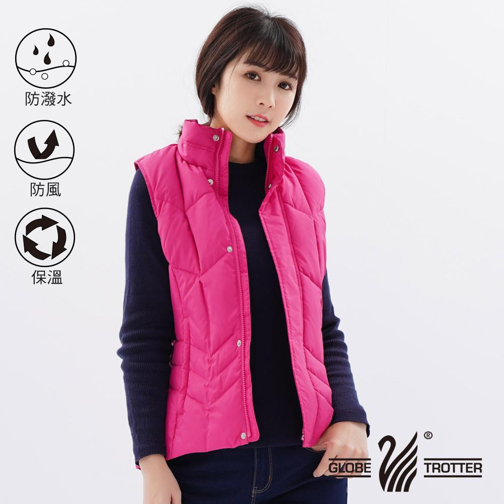 【遊遍天下】女款防風防潑水JIS90%羽絨背心22002粉紅