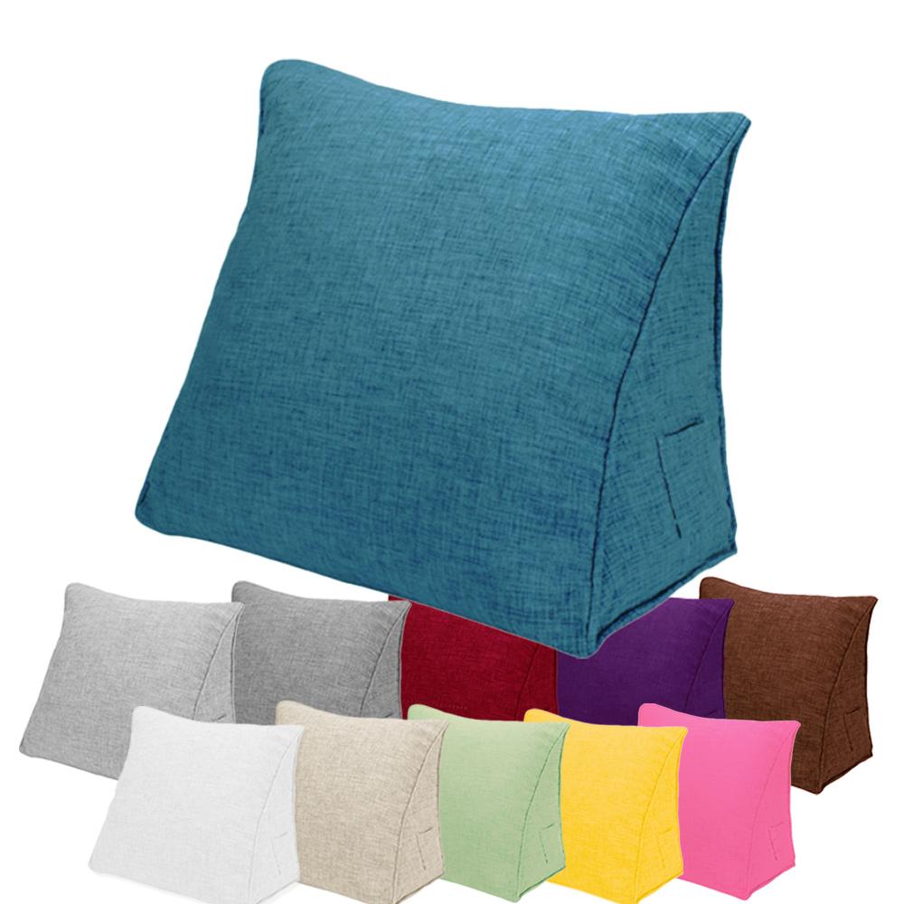 枕側口袋可收納 舒壓三角枕/靠枕/腿枕