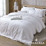《HOYACASA 合莎香妃》雙人緹花長纖蠶絲被(6x7尺)-贈舒眠枕2入