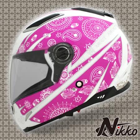 Nikko N-801#8 小帽體全罩安全帽---彩繪款-內襯全可拆-機車騎士-抗UV鏡片-空氣風洞散熱設計-飛豹