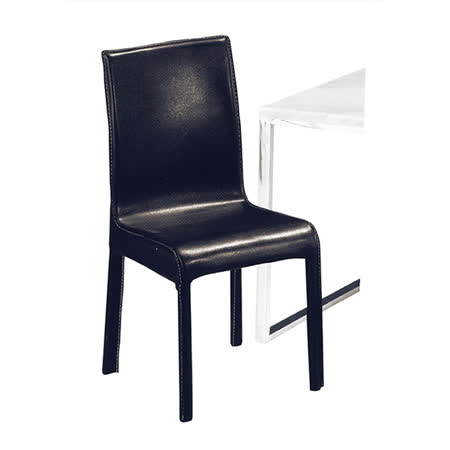 【ABOSS】Randi馬鞍皮餐椅(黑色)