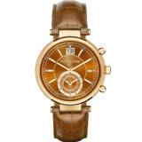 Michael Kors 古典魅力計時腕錶 MK2424 金x咖啡色