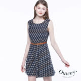 【OUWEY 歐薇】復古印象幾何提花洋裝