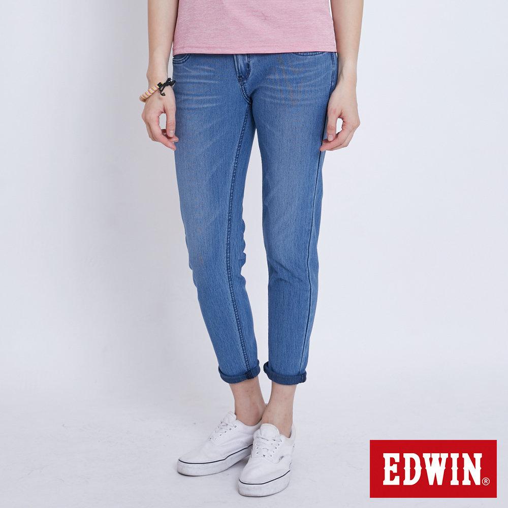 EDWIN JERSEYS 涼感迦績牛仔褲-女-石洗綠