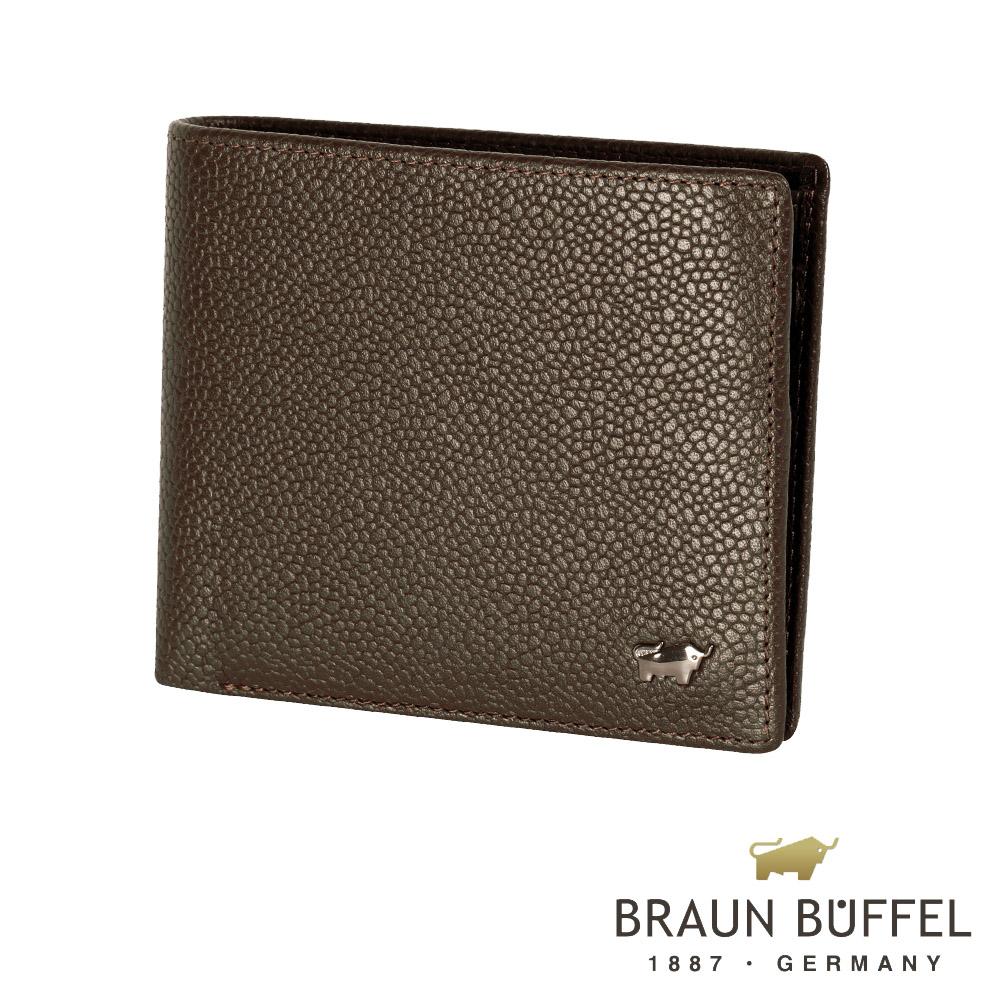 【BRAUN BUFFEL】德國小金牛-丘喬系列5卡透明窗皮夾(可可色)BF301-316-CA
