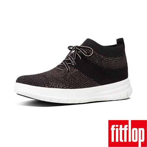 FitFlop TM-UBERKNIT TM SLIP-ON HIGH TOP SNEAKER黑/銅金色