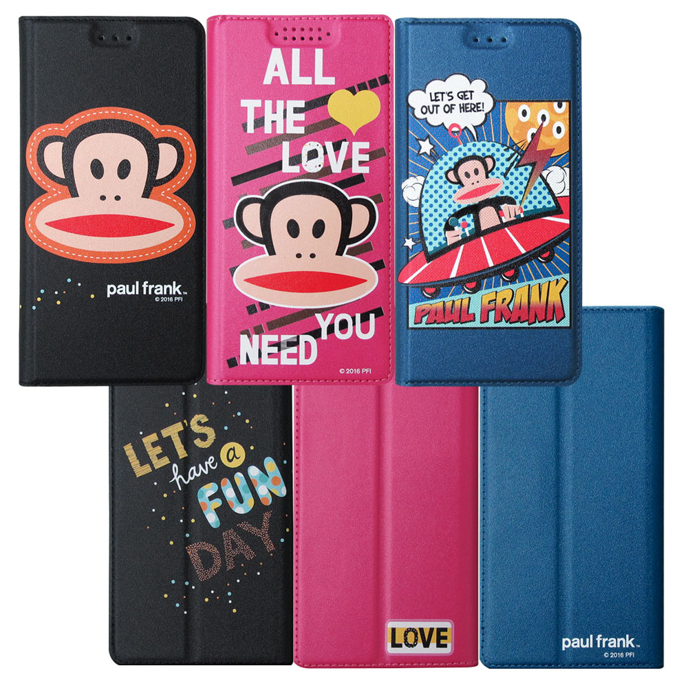 大嘴猴正版授權 iPhone 8 Plus / iPhone 7 Plus 5.5吋 金沙灘彩繪磁力皮套(漫畫藍.愛情桃.大頭黑)