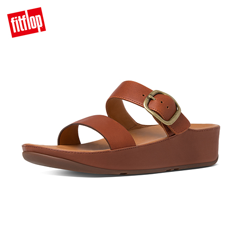 FitFlop - (女款)STACK SLIDE SANDAL-深褐色