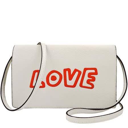 COACH Keith Haring皮革長夾/斜背包-白色
