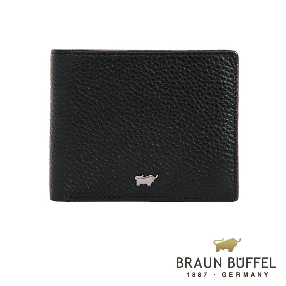 【BRAUN BUFFEL】德國小金牛-佩雅系列4卡零錢袋皮夾(經典黑)BF303-315-BK