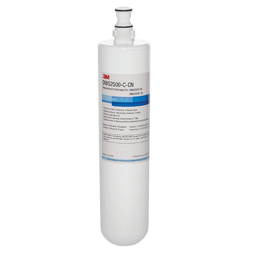 3M DWS2500智慧型淨水系統替換濾心(DWS2500-C-CN)