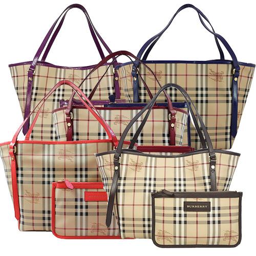 BURBERRY 經典騎士格紋手提/肩背水桶包(附可拆小袋) 5色