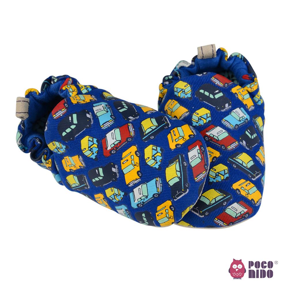 英國 POCONIDO 純手工柔軟嬰兒鞋 (小小汽車)
