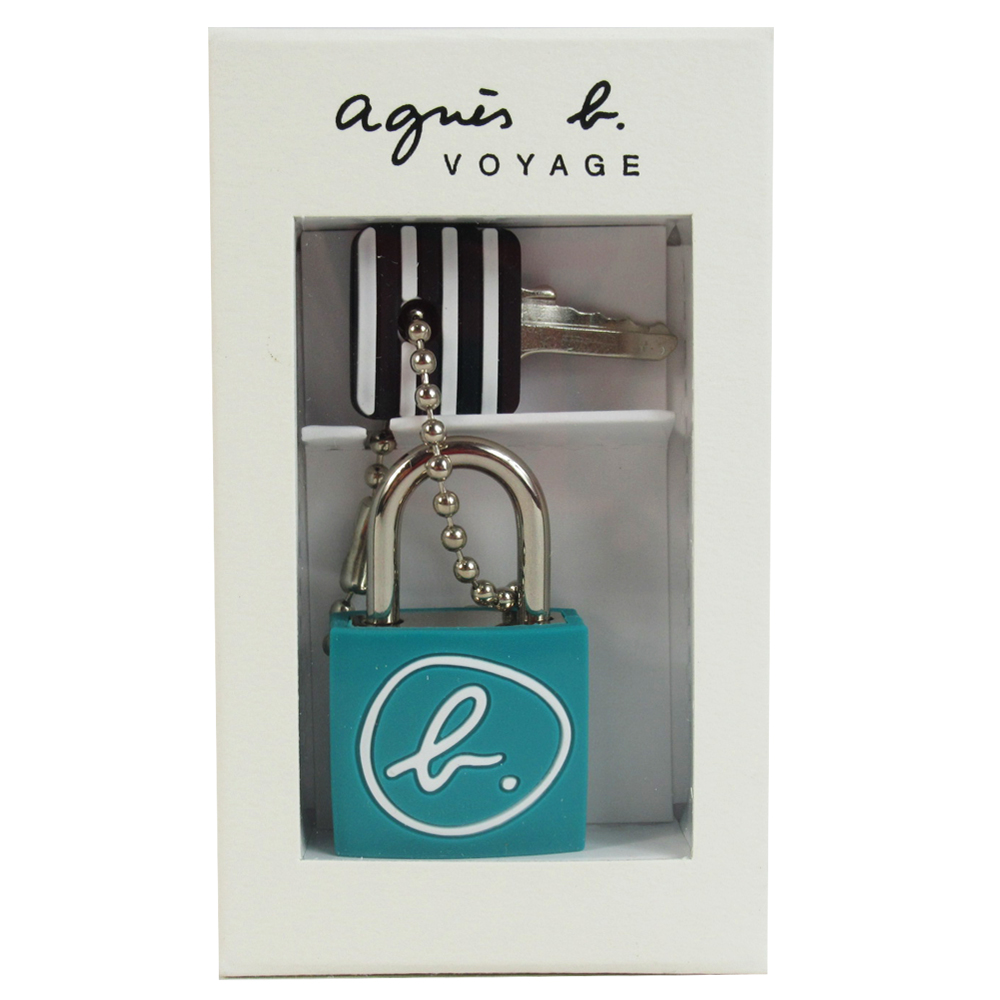 agnes b.文字圖樣鎖頭-綠