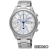 SEIKO精工 經典雅爵三眼計時視距儀石英腕錶 SNDV51P1