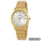 SEIKO精工 卓越耀眼金系風尚石英腕錶 SUR148P1
