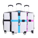 DF 生活趣館 - 旅行箱專屬行李箱綁帶固定帶十字型密碼鎖-共3色