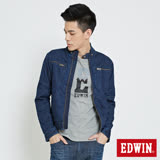 EDWIN 騎士短版夾克外套-男-原藍色