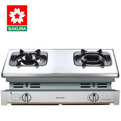 【促銷】SAKURA櫻花 兩口防乾燒雙內焰崁入式瓦斯爐 G-6703/G-6703S