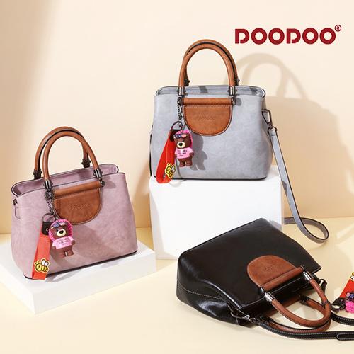 【doodoo包包】7602 新款潮韓版大容量百搭斜背復古手提包
