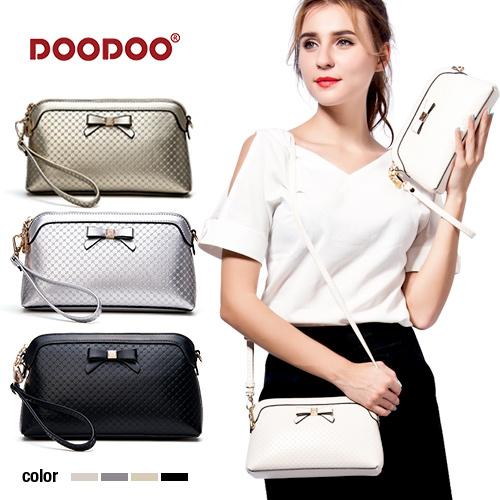 【doodoo包包】5125 新款韓版簡約鑲鑽蝴蝶十字紋迷你單肩手拿斜背包