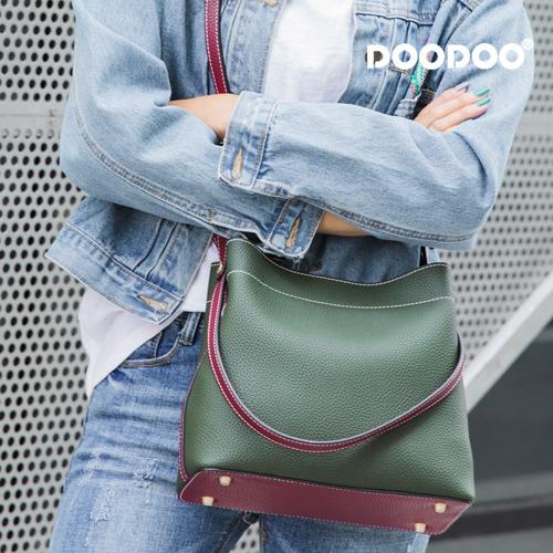 【doodoo包包】7591 新款潮素面百搭双肩帶時尚托特包女包