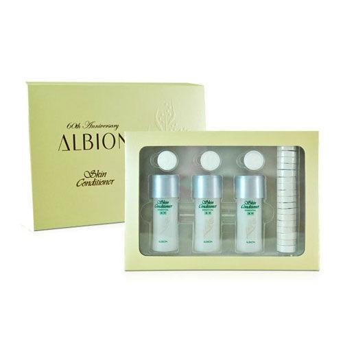 《Albion 艾倫比亞》健康化妝水 精選組 (27ml*3+壓縮面膜)