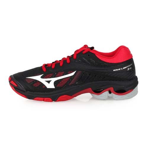 (女) MIZUNO WAVE LIGHTNING Z4 排球鞋-美津濃 黑紅白