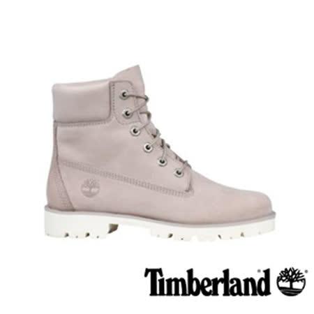 Timberland淡灰褐色正絨面皮革靴