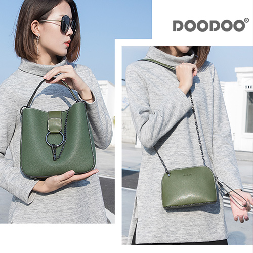 【doodoo包包】7566 新款韓版時尚軟皮單肩百搭子母包
