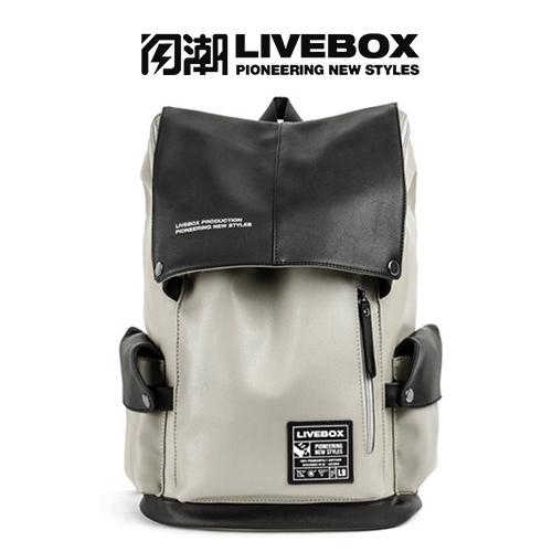 【閃潮】韓版個性大容量英倫風格旅行學院後背包 B-406-B-1 (大灰)/ 個